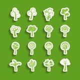 Ensemble abstrait d'icône de papier d'arbre, vecteur eps10 Photo libre de droits