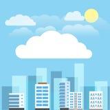 Ensemble abstrait d'illustration de bâtiments de ville Images libres de droits