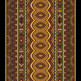 Ensemble abstrait de fond de rayures de tribal de vecteur Images stock