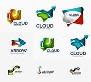 Ensemble abstrait de logo, formes transparentes géométriques Photo libre de droits