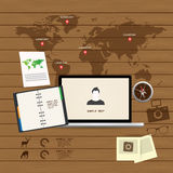 Ensemble adaptatif et sensible d'icône de web design Photos stock