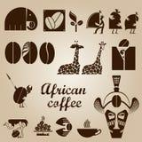 Ensemble africain de conception de café Photographie stock libre de droits