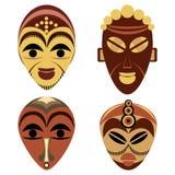 Ensemble africain de masque illustration libre de droits