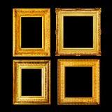 Ensemble antique de cadre d'or de style baroque Photo libre de droits