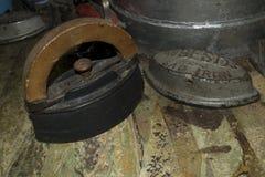 Ensemble antique de fer photo stock