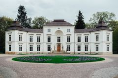 Ensemble antique de palais et de parc de Lazienki à Varsovie Photos libres de droits