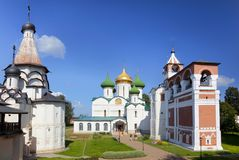Ensemble architectural du monastère de Spaso-Efimiev Suzdal, photos stock