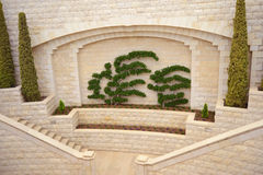 The ensemble architecture. At the entrance to the Bahai Gardens Stock Photos