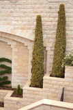 The ensemble architecture. At the entrance to the Bahai Gardens Stock Photography