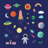 Ensemble astrologique de graphique d'espace extra-atmosphérique illustration de vecteur