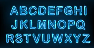 Ensemble au néon d'alphabet illustration stock
