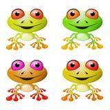 Ensemble aux yeux rouges de grenouille d'arbre illustration libre de droits