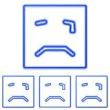 Ensemble bleu de conception de logo d'icône de cri illustration stock