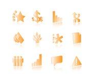 Icônes conceptuelles d'affaires réglées illustration stock