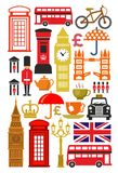 Ensemble britannique d'icône illustration stock