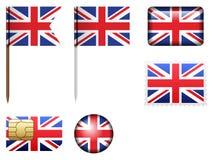 Ensemble BRITANNIQUE de drapeau illustration de vecteur