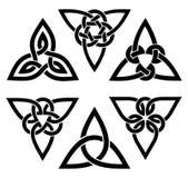 Ensemble celtique de noeud de trinité Photographie stock