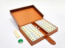 Ensemble chinois de mahjong Photos stock
