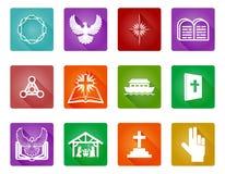 Ensemble chrétien d'icône Photographie stock libre de droits