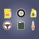 Ensemble coloré avec des icônes de voitures Image libre de droits