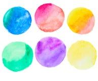 Ensemble coloré d'aquarelle Image libre de droits