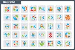 Ensemble coloré d'icône de personnes de vecteur Photo stock