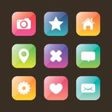 Ensemble coloré d'icône de Web Images stock