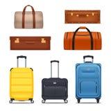 Ensemble coloré de bagages illustration libre de droits