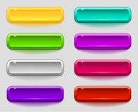 Ensemble coloré de boutons lisses illustration libre de droits