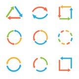 Ensemble coloré de flèche Photos libres de droits