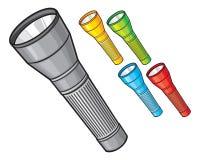 Ensemble coloré de lampes-torches Images stock