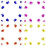 Ensemble coloré floral de fond de modèle Image libre de droits