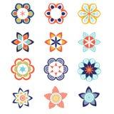 Ensemble coloré géométrique de calibre de logo et d'icône illustration libre de droits