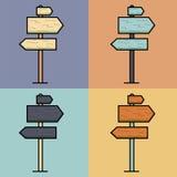 Ensemble coloré lumineux d'indicateur Photographie stock libre de droits