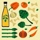 Ensemble coloré lumineux de nourriture illustration stock