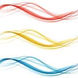 Ensemble coloré lumineux mol de disposition de frontière de Web de belle collection moderne d'en-tête de vague de bruissement Ill illustration libre de droits