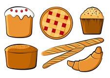 Ensemble color? de boulangerie Illustration de vecteur illustration stock