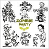 Ensemble comique de zombi - zombi de bande dessinée photo libre de droits