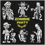 Ensemble comique de zombi - zombi de bande dessinée photographie stock