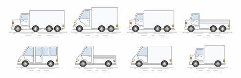 Ensemble commercial de van icons Illustration de Vecteur