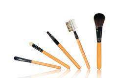 Ensemble complet de brosses de maquillage image stock