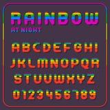 Ensemble complet de lettres d'alphabet d'arc-en-ciel illustration de vecteur