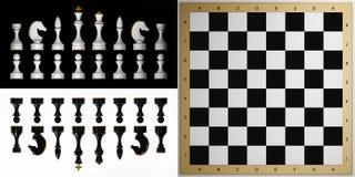 Ensemble complet de pièces d'échecs illustration libre de droits