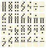 Ensemble complet des tuiles de domino image libre de droits