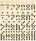 Ensemble complet des tuiles de domino photos stock