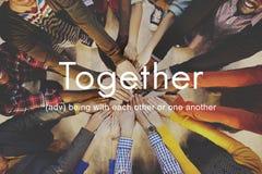 Ensemble concept de soutien d'amis de famille de la Communauté Photographie stock