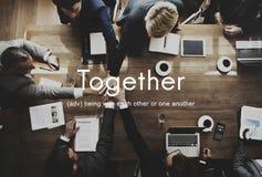 Ensemble concept de soutien d'amis de famille de la Communauté Image libre de droits