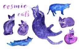 Ensemble cosmique de chat Photos libres de droits
