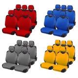 Ensemble couleurs de sièges de véhicule de différentes photographie stock