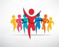 Ensemble courant de personnes de symboles Image libre de droits